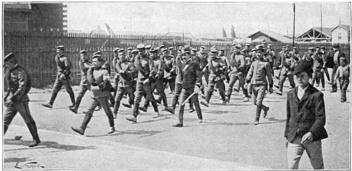 Jagers en voetvolk van het Portugeesche leger.