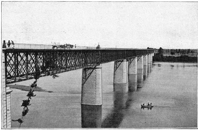De Taagbrug bij Santarem.