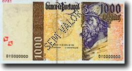 1000 escudo-biljet
