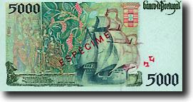 5000 escudo-biljet